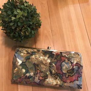 HOBO Metallic Floral Lauren Wallet